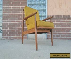 Mid Century Danish Modern Lounge Chair with Cushions for Sale