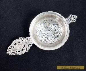 Unusual Antique c1910 Early Art Deco Tiffany & Co Sterling Silver Tea Strainer for Sale