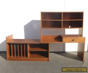 Vintage Danish Modern Writing DESK Bookcase w Storage Versatile for Sale