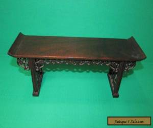Old or Antique Chinese Hardwood Miniature Alter Table Stand  for Sale