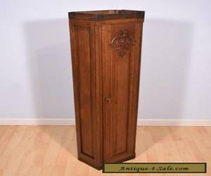 Antique French Provincial Solid Oak Wall Cabinet/Case for Sale