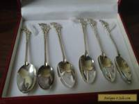"Set Of 6 -"" Sterling Silver jamacia spoons"