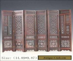 Hand-carved Chinese Boxwood & Sculpture Folding Screen for Sale