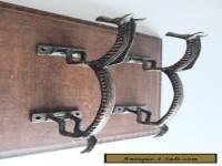 VINTAGE ANTIQUE STYLE HORSE SOLID BRASS PAIR OF DOOR HANDLES PULLS