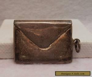Vintage Antique Estate ~ 925 Sterling Silver Stamp Case Box Holder for Sale