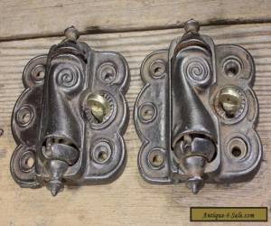 2 vintage Screen Door Hinges quick release old Victorian self closing spring for Sale