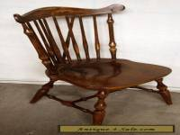 Antique Vintage Windsor Solid Wood Wooden Spindle Back Dining Side Accent Chair