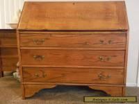 19th century oak drop front secretary desk