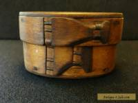 ANTIQUE UNUSUAL WOOD BOX VERY RARE TUCKS NORWEGIAN