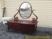 1 Antique Mahogany Vanity Chest with Mirror