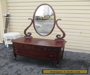 1 Antique Mahogany Vanity Chest with Mirror for Sale