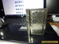 antique solid silver book shaped box