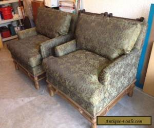 PAIR OF CENTURY CHAIRS W/WOOD BASES for Sale