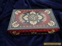 ATTRACTIVE VINTAGE WOODEN HAND CARVED BOX