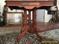 1870's Spectacular Victorian Carved Burl Wood Exceptional Antique Table Base