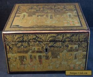 Fine Antique Japanese Wood and Lacquer Box for Sale