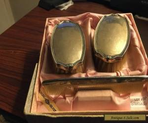 Two Sterling Silver Victorian Bushes & Comb set in Original Box for Sale