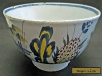 RARE ANTIQUE ENGLISH LIVERPOOL? DELFT WARE TIN GLAZE BOWL CIRCA 1760 POLYCHROME
