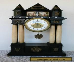 Antique Austrian Alabaster Column Clock -Late Biedermeier 1830 for Sale