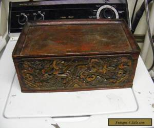 ANTIQUE VINTAGE CHINESE CARVED  DRAGONS carved box for Sale