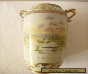 Nagoya Nippon Handpainted Vase for Sale