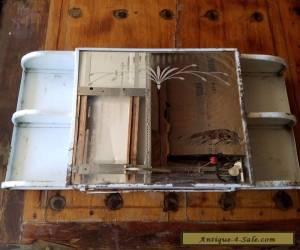 Vintage antique shabby Distressed Metal Medicine Bathroom Cabinet Shelves  for Sale