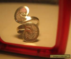 Vintage/antique  Sterling Silver ornate ring  letter S for Sale