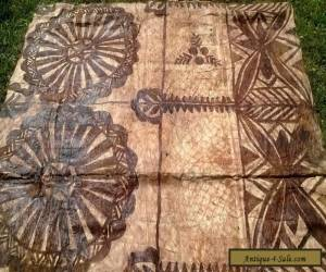 Stunning Old TAPA CLOTH Siapo SAMOA 1960s  for Sale