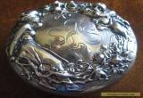 Silver Lady Cherub Dresser Box Sterling Art Nouveau Antique Jewel Box for Sale