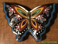 VINTAGE / ANTIQUE CHINESE CLOISONNE ENAMEL BUTTERFLY TRINKET BOX