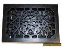 RECTANGULAR Cast Iron Floor Register Heat Grate antique REPLICA louvered