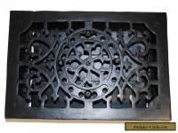 RECTANGULAR Cast Iron Floor Register Heat Grate antique REPLICA louvered