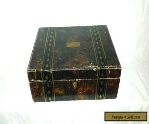 Antique letter writing lap travel Desk Box hand painted Victorian for Sale