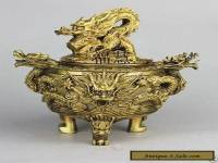 Excellent Chinese Brass Dragon Incense Burner / Censer #1111