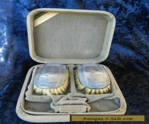 Vintage Pair Sterling Silver Hair Brushes in Original Box for Sale