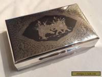 Antique Rare Thai Sterling Silver Nielloware Jewelry box w/Presentation Box