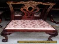 Chippendale Style Dining Chair w/Cushion ~ Mahogany ~ Carved Claw on Ball Feet