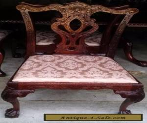 Chippendale Style Dining Chair w/Cushion ~ Mahogany ~ Carved Claw on Ball Feet  for Sale