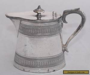 Vintage James Dixon & Son Silver Plate Lidded Hot Water Pot 1/2 Pint #2412 for Sale