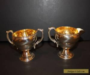 Antique Sterling Silver JWW Sugar Bowl & Creamer Set Vintage for Sale