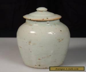 Antique Chinese Porcelain Glazed Covered Jar for Sale