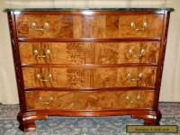 HEKMAN DRESSER Carved Mahogany 4 Drawer With Marble Top VINTAGE
