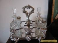 Vintage Antique Early 20th Century Silver Plated Cruet