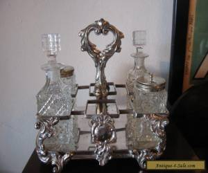 Vintage Antique Early 20th Century Silver Plated Cruet for Sale