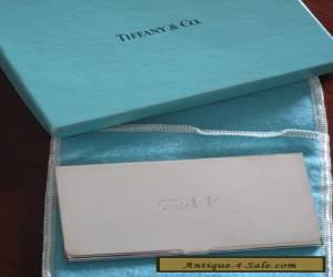 Tiffany & Co Silver (silverplate) business card case plus original box for Sale