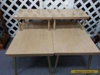 Vintage LANE Mid Century Modern 2-Tier Coffee End Tables Blonde Finish