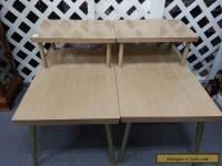 Vintage LANE Mid Century Modern 2-Tier Coffee End Tables Blonde Finish