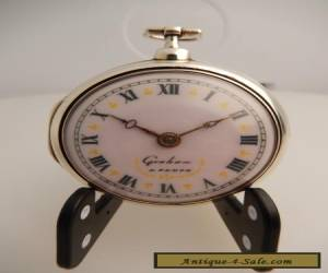 SOLID SILVER VERGE FUSEE GRAHAM LONDON 1700cc POCKET WATCH for Sale
