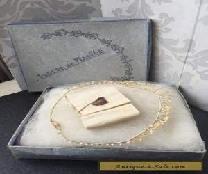 Divine Antique Vintage French Wax Flower Wedding Bridal Tiara Headdress Boxed for Sale