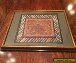 Framed Chinese Qing Dynasty Embroidered Panel.   for Sale